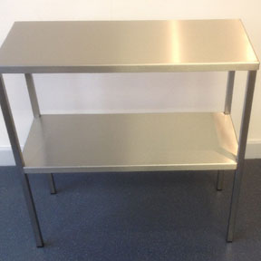 image 8 Brushed Finish Stainless Steel Table